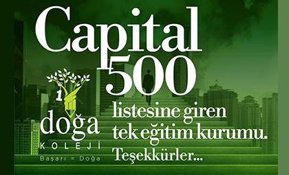 DOĞA KOLEJİ, CAPITAL500 LİSTESİNDEKİ TEK EĞİTİM KURUMU OLMAYI