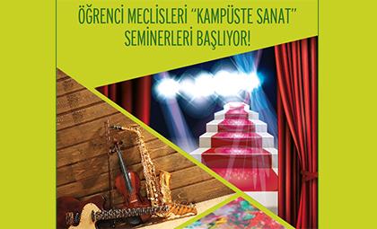 """t-MBA ÖĞRENCİ MECLİSLERİ """"KAMPÜSTE SANAT"""" SEMİNERLERİ BAŞLIYOR!"""
