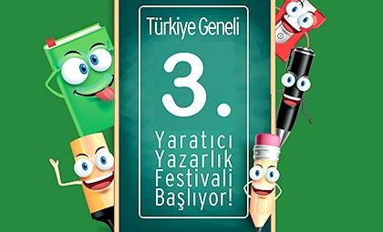 3. TÜRKİYE GENELİ YARATICI YAZARLIK FESTİVALİ BAŞLIYOR!