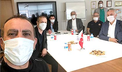 YÖNETİM KURULU BAŞKANIMIZ ÖZEREN'E, HALUK LEVENT'TEN ZİYARET