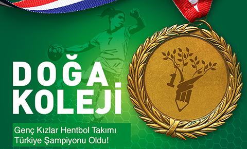 HENTBOLDA TÜRKİYE ŞAMPİYONU DOĞA!