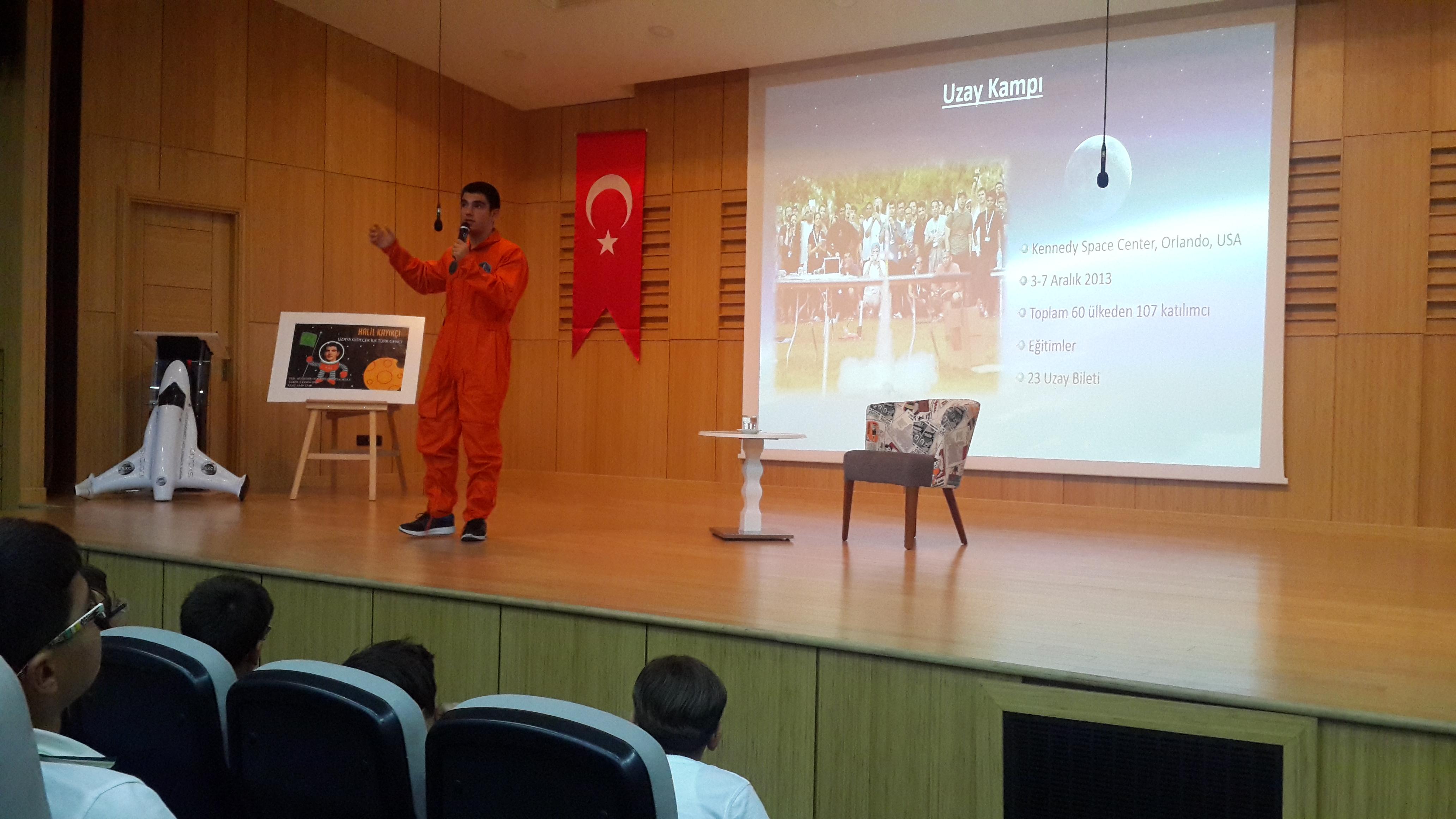 Bati Ataşehir Doğa Bilim Ortaokulu Uzay Yolcusu Halil Kayikçi