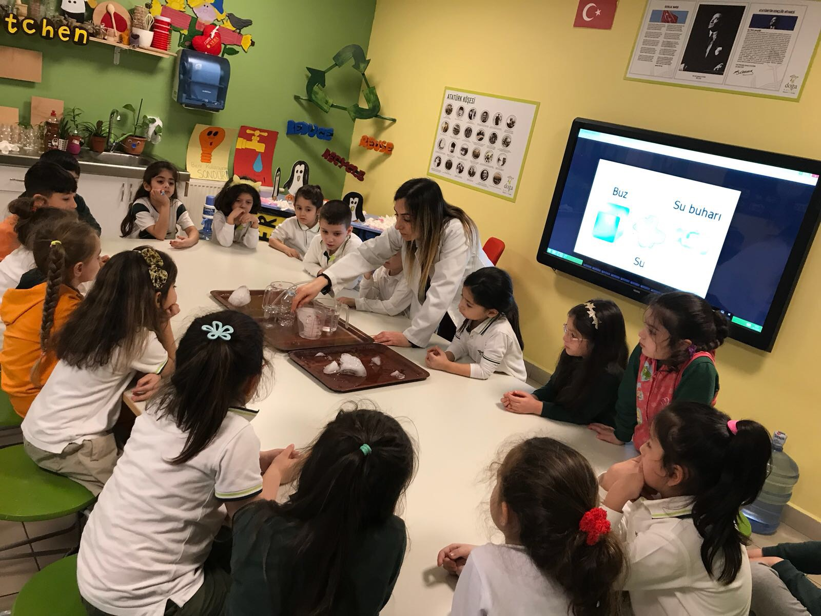 Okul öncesi sınıftaki ekoloji dersleri
