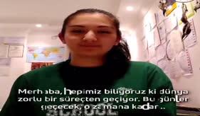 """ÖĞRENCİLERİMİZDEN 7 DİLDE """"EVDE KAL"""" ÇAĞRISI"""