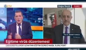 NTV - PROF. DR MEHMET KARACA UZAKTAN EĞİTİMİ DEĞERLENDİRDİ
