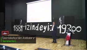 """""""DOLMABAHÇE'DEN ANITKABİR'E SEMİNERLERİ""""NDE ATATÜRK'Ü ÖZLEMLE ANDIK"""
