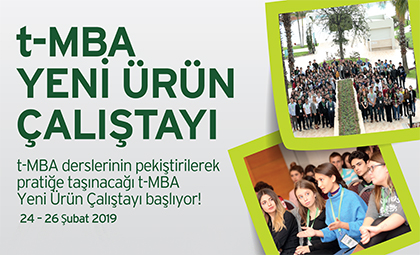 2. t-MBA YENİ ÜRÜN ÇALIŞTAYI 24-25-26 ŞUBAT'TA ANTALYA'DA BAŞLIYOR